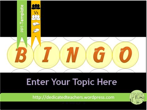 bingo powerpoint template bingo template dedicated teachers
