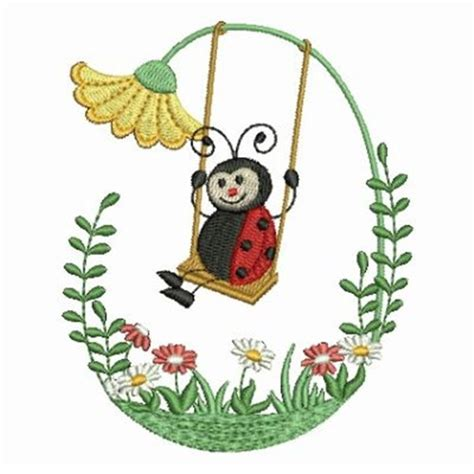 embroidery design ladybug swinging ladybug embroidery designs machine embroidery