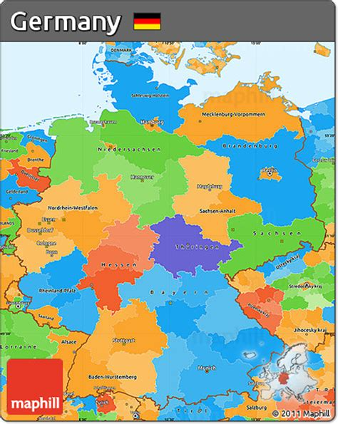 political map germany free political simple map of germany