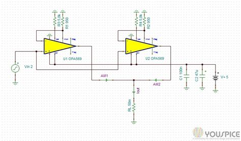diode circuits in parallel opa569 in parallel as laser diode driver youspice