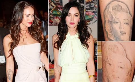megan fox marilyn tattoo mistakes removal