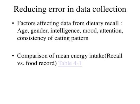 eating pattern meaning ppt 24 hour dietary recall and food record method