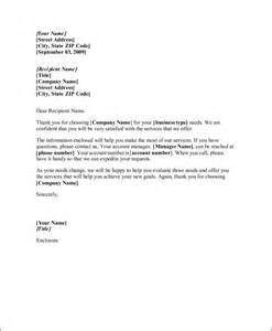 business letter you are welcome