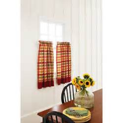 Red Plaid Kitchen Curtains by Yellow Kitchen Curtains Ebay