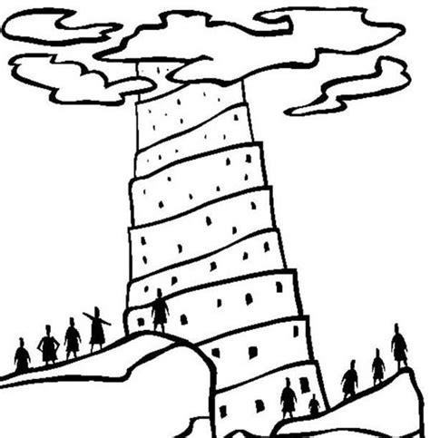 coloring page for tower of babel tower of babel coloring pages coloring home