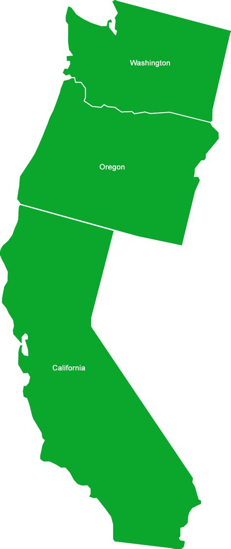 west coast of united states map regionally coordinated efforts healthy oceans