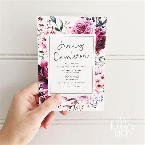 design of invitation for debut floral classy modern white invitation engagement