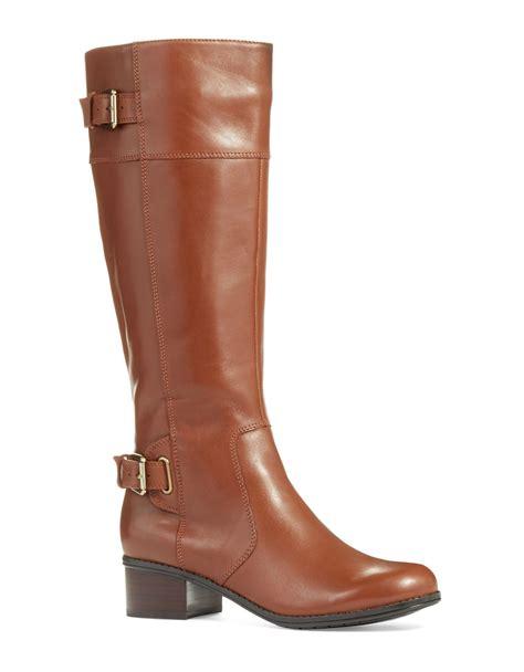 bandolino boots bandolino castin boots wide calf in brown lyst