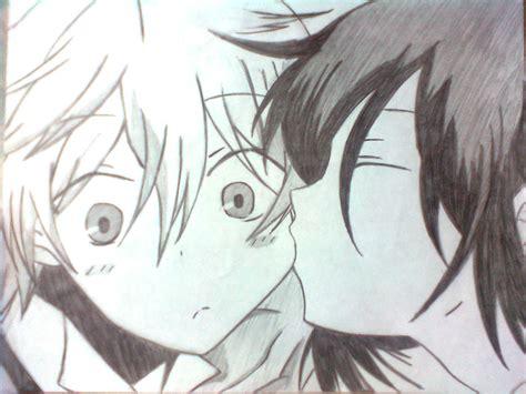 anime cheek kiss oz and alice kiss on cheek by kokomirai on deviantart