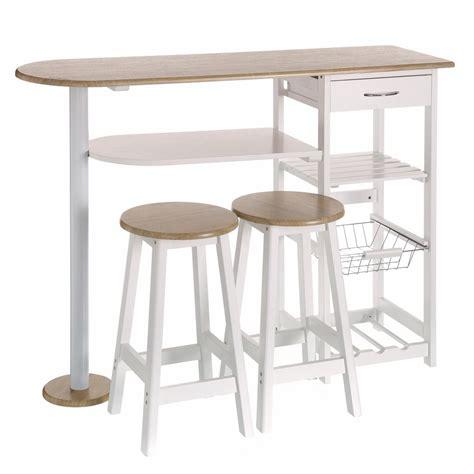 mesas de cocina madera mesa para cocina de bar moderna de madera blanca lola home