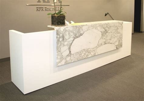Marble Reception Desk Custom Reception Desk Simple Form And Materials To Emphasize It Not Sure About Ada