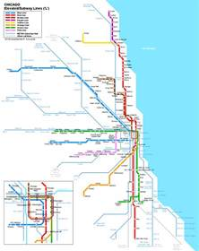 Chicago Metro Area Map by Plan De M 233 Tro Chicago Subway Application