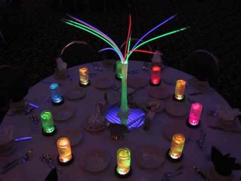 glow in the centerpieces ideas glow glow necklaces and centerpieces on