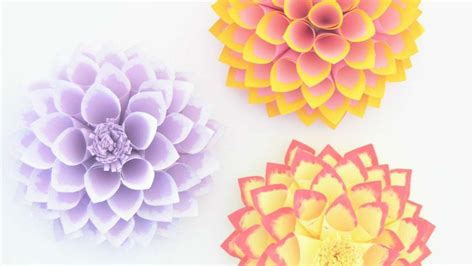 How To Make A Beautiful Paper - how to make beautiful paper dahlias diy crafts tutorial