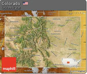 free satellite map of colorado physical outside