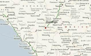 Durango Mexico Map by Mexico Map Durango