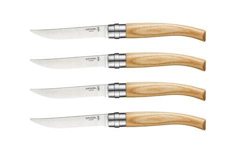 opinel steak knives opinel ashwood handle steak knife set 4 cutlery