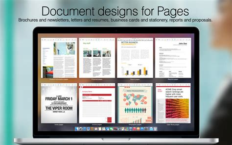 templates for pages macbook pro megapack for iwork 2015 keynote numbers pages templates