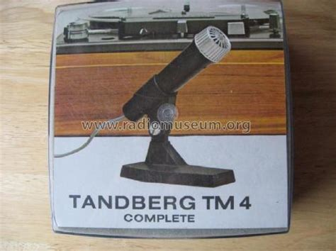 Headphone Mic Tanberg tm 4 microphone pu tandberg radio oslo build 1965 2 pi