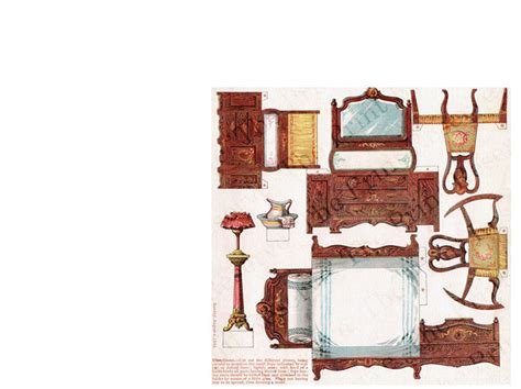 printable house furniture printable paper doll house furniture 5 pages 1895