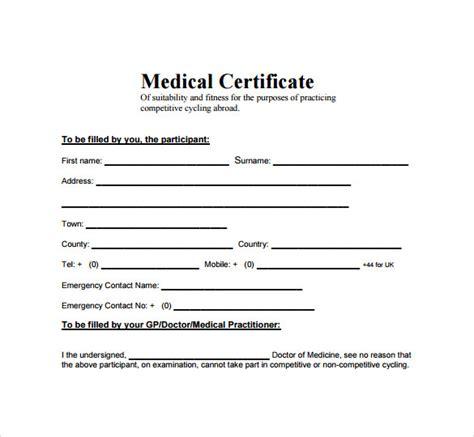 fake medical certificate template medical certificate template