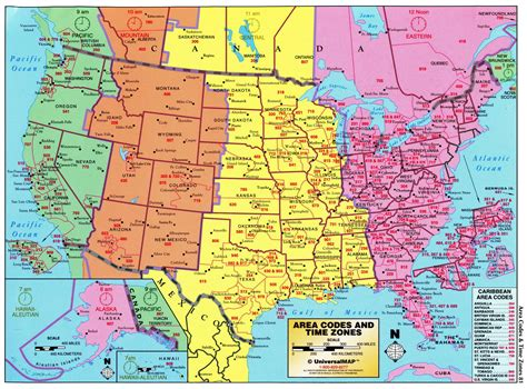 united states timezone map view us times zones maps