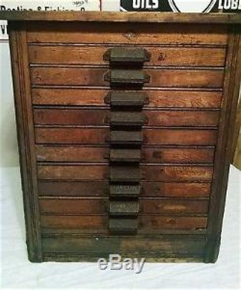 Antique 10 Drawer Hamilton Printer Cabinet Early 1900's