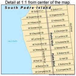 south padre island map 4869140