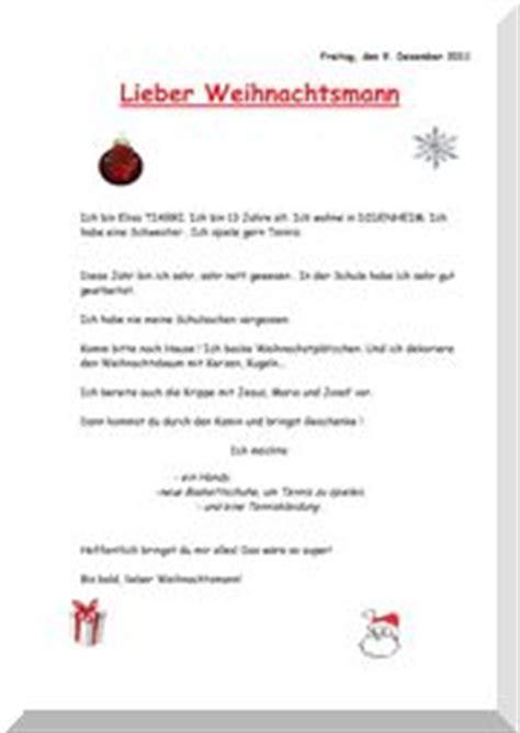 Exemple De Lettre Au Pere Noel En Allemand Coll 232 Ge Jean Xxiii Mulhouse