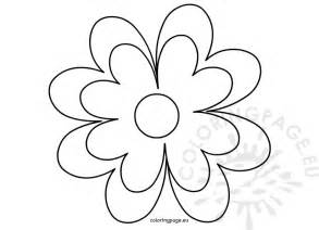 Free Flower Template Printable by Printable Flower Template Crafts Coloring Page