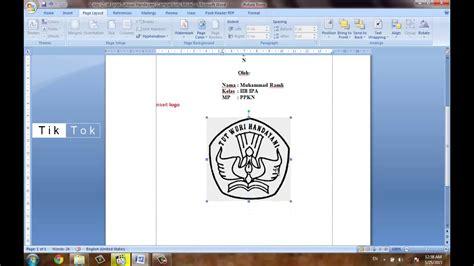 membuat makalah dengan microsoft word microsoft office cara membuat cover makalah dengan