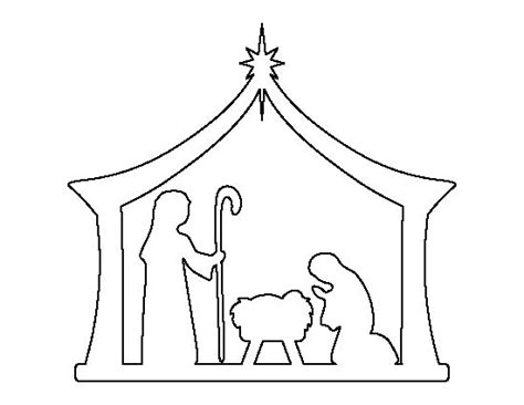 printable nativity scene cutouts nativity pattern use the printable outline for crafts