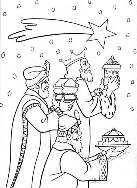 coloring pages of wise men bring gifts to jesus pictures