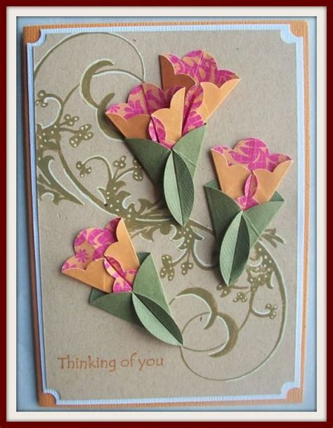 Paper Folding Greeting Cards - 854 best floral cards images on card crafts