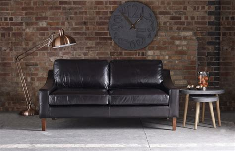 Modern Leather Sofa Uk Hilary Modern Leather Sofa
