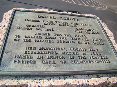 Comal County Records Comal County Historical Commission Comal County