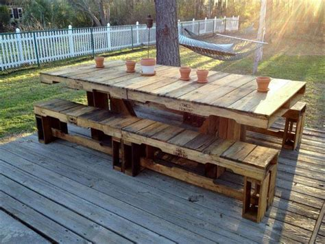 diy pallet outdoor rustic bench pallet furniture diy 5 easy wood projects from pallets