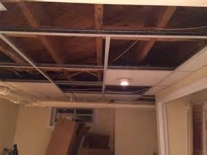 Interior Paneling Home Depot drop ceiling vs bare ceiling