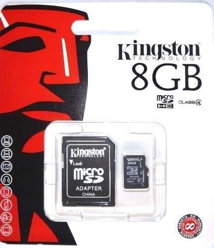 Micro Sd Merk Kingston memoria kingston micro sd 8gb con adaptador ideal celulares u s 9 99 en mercado libre