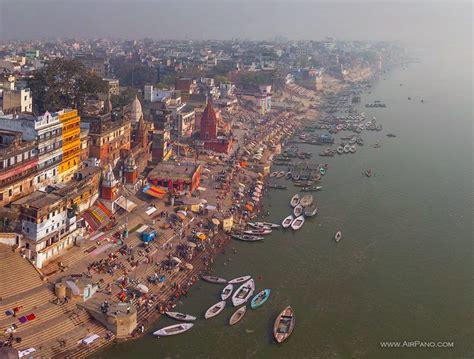 on india varanasi india 360 176 aerial panoramas 360 176