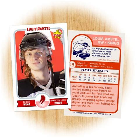 create your own hockey card template make your own hockey card