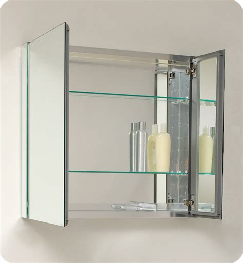 Mirrored Bathroom Medicine Cabinets | 29 75 quot fresca fmc8090 medium bathroom medicine cabinet w