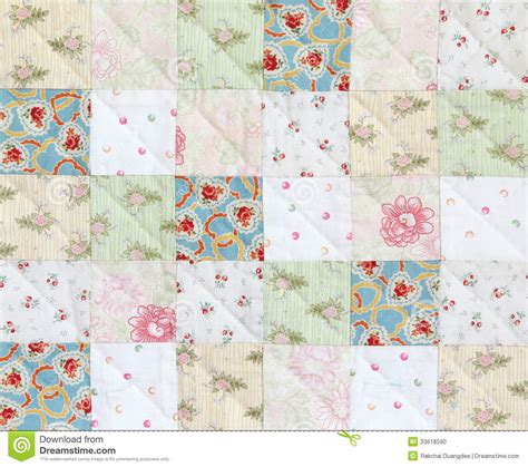 Square Patchwork Quilt Pattern - patchwork quilt pattern stock photo image 33618590