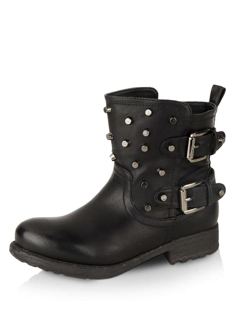 buy womens biker boots buy rebel studded biker boot for s