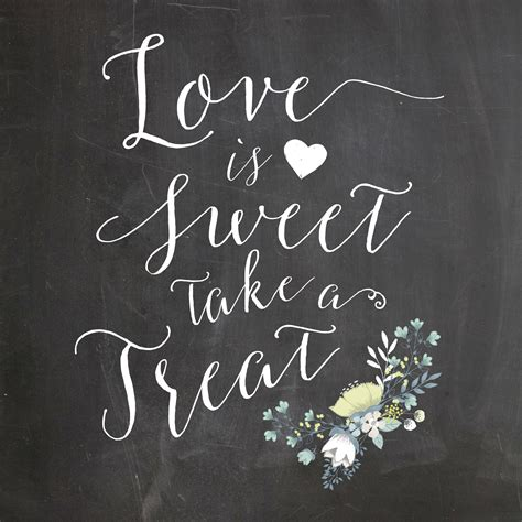 treat a is sweet take a treat chalkboard wedding sign printable oconee events