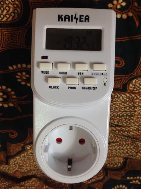 Hiko Stop Kontak Dengan Timer 1 jual stop kontak timer digital merk kaiser utk hidroponik organik umum simon