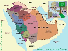 political map of saudi arabia saudi arabia map political regional maps of asia