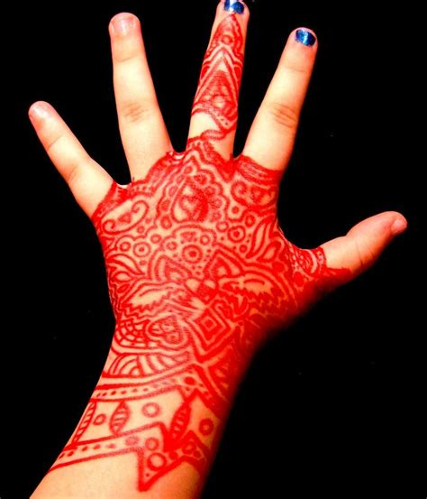red handed tattoo henna images designs