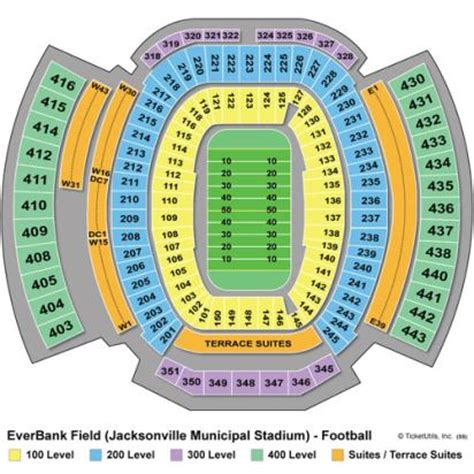 everbank field map vipseats everbank field tickets