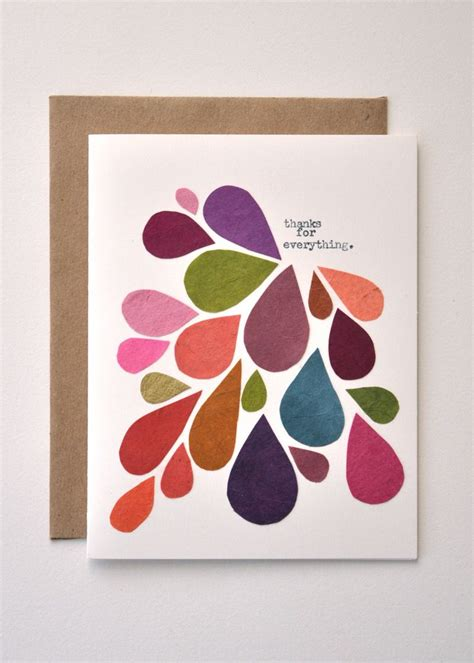 Thank You Handmade Cards - thank you card handmade greeting card abstract mod